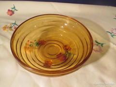 Kínáló tál barna üveg Á066