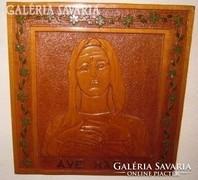 Ave Maria : régi faragott-festett falikép- szentkép