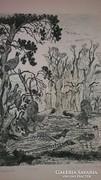 Tuka László (1924 -) alkotása Madarak rézkarc 34 X 25 cm