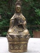 Keleti témájú bronz szobor antik m 25 cm