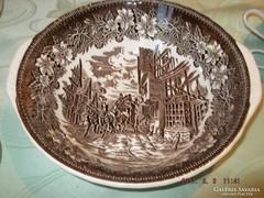 Nagyon régi  barna angol tésztás tál