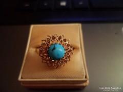 14K arany gyűrű / türkiz