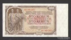 100 korona 1953. HAJTATLAN!!  aUNC!!  RITKA!!