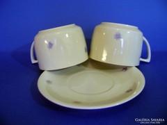 2 db Zsolnay teáscsésze és  1 db tányér