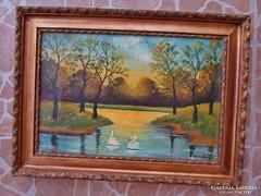 Antik jelzett  festmény