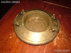 Antik réz füles tál - asztalközép