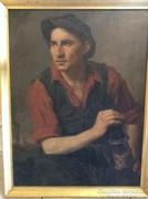 Kukán Géza Vájár c. festménye