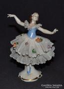 Kézzel festett Volkstedt tüllszoknyás balerina