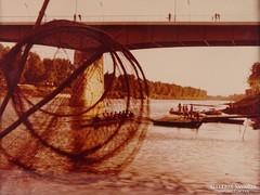 0M596 Régi színes művészi fotó Tiszai híd