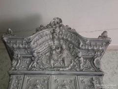 MEISSENI szecessziós domborműves antik cserépkályha 1880-ból