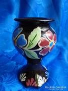 HMV kerámia festett kicsi váza
