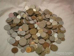Vegyes régi pénz érmék több mint 2 kg