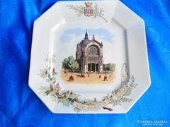 Sarreguamines porcelán fali tányér