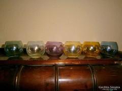 6 db likőrős üvegpohár