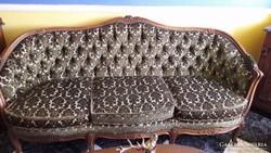 Antik Barokk Szalon Garnitúra, Kanapé 4 db-os