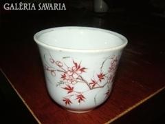 Antik, kézzel festett, sorszámozott csésze