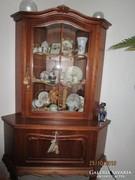 Chippendél barokk sarok vitrin100x180x60cm,kétrészre szedhető
