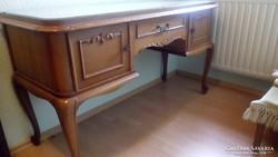 Chippendél barokk női iróasztal 135x50x76cm
