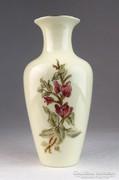 0M594 Vajszínű Zsolnay porcelán váza 16.5 cm