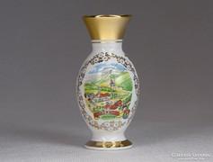 0M617 Régi kisméretű porcelán ibolyaváza WAGRAIN