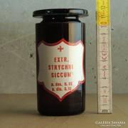 """""""Extr. Strychni Siccum"""" patikaüveg"""