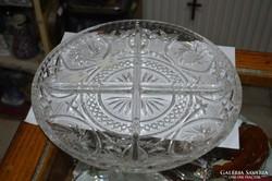 Csehszlovák kristály tál