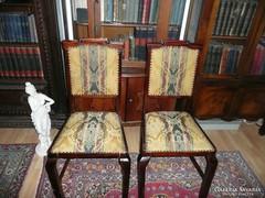 2 db gyönyörű antik faragott szecessziós szék eladó