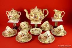 Zsolnay teáskészlet pillangós 6 személyes (új)