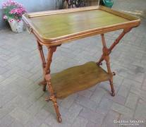 Antik szervírozó asztal,leemlhető tálcával - szállítással 18.000 Ft