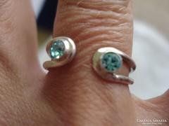Különleges kék köves ezüst gyűrű