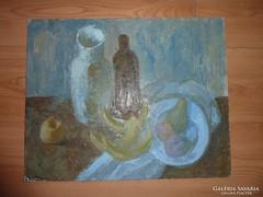 Laptiev A. M.: Asztali csendélet, olaj-vászon, 91-ből, jelz.