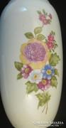 Holloházi porcelán virágos váza