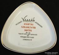 Viszék  - hegesztő  reklám hamutál -hollóházi porcelán