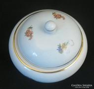 Kerek hollóházi porcelán bonbonier