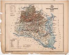 Baranya vármegye térkép 1899, Magyarország atlasz (a), megye