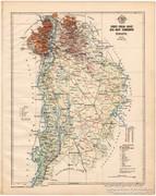 Pest - Pilis - Solt - Kis-Kun vármegye térkép 1899, megye
