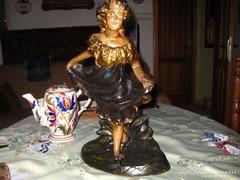 Antik barokkos leány szobor  41 cm