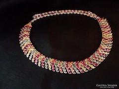 Zafír-rubin ezüst collier Mozambik.60.10 gr. ÚJ!