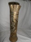 32 cm réz hüvely váza