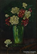 0M125 Olvashatatlan jelzéssel : Virágcsendélet