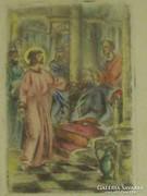 Végh Gusztáv színezett rézkarc ( 1942 )