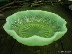 Antik üveg tányér