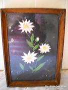Antik hímzett kép keretben eladó!