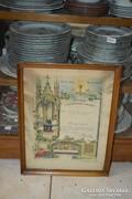 Szentkép aranyozott keretben