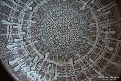 Pasztell színű kerámia falitányér