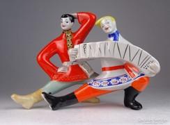 0M648 Kétalakos táncoló orosz porcelán figura