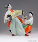 0M649 Kétalakos táncoló orosz porcelán figura