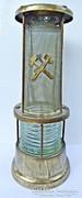 Régi bányász lámpa formájú italos flaska