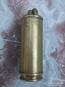 Háborús relikvia -gyűjtőknek Öngyújtó töltényből s.réz /szám,betű jelz.