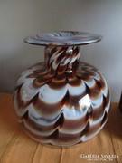 Csodálatos régi nagyméretű üveg váza hibátlan állapotban